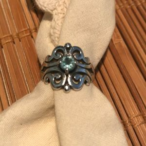 James Avery Spanish Lace Ring with Blue Topaz